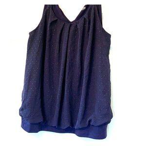 Cute purple women's work blouse size 14/16